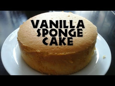 Vanilla Sponge Cake  L Soft And Moist Vanilla Sponge Cake By Tasty Recipe L
