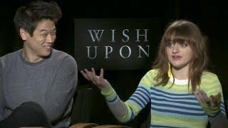 Joey king and ki hong lee talk 'wish upon'