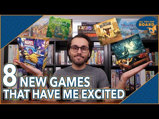 8 NEW Games that Have Me EXCITED! | Marvel Champions Thanos, Siege of Runedar, Verdant + MORE!