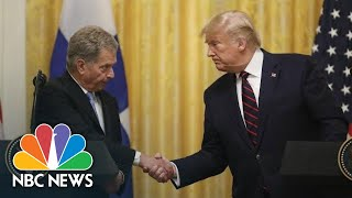 President Of Finland Tells Trump: You Have 'A Great Democracy. Keep It Going On' | NBC News