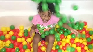 Kids Learning - Learn Colors Surprise Eggs Ball Pit for Children Toddlers Best Learning Colors Video