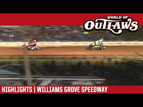 World of Outlaws Craftsman Sprint Cars Williams Grove Speedway September 28, 2018 | HIGHLIGHTS