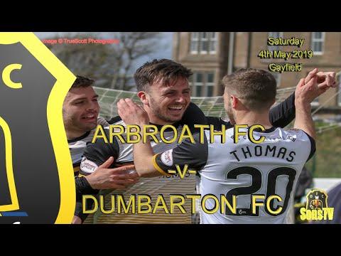 Arbroath FC v Dumbarton FC, Sat 4th May 2019