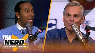 T.J. Houshmandzadeh joins Colin Cowherd to make predictions on the NFL playoffs | NFL | THE HERD