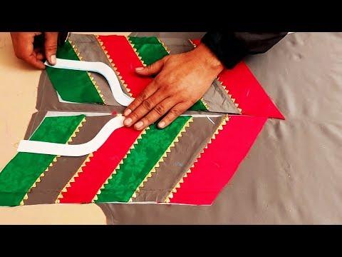Most Beautiful Kurti Front Design   Trendy Kurti Neck Design Cutting and Stitching