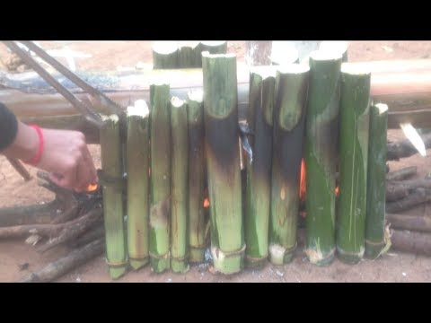 Awesome Cooking Rice In Bamboo - Cook Rice In Bamboo - Village Food Factory