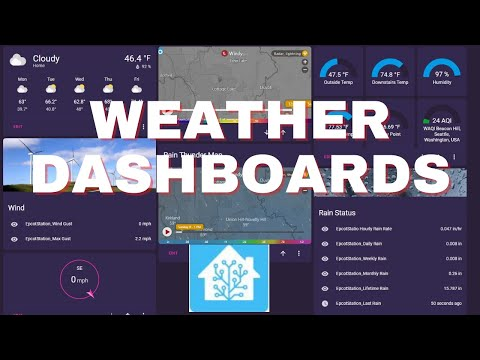 Home Assistant Dashboard for Ambient Weather Stations