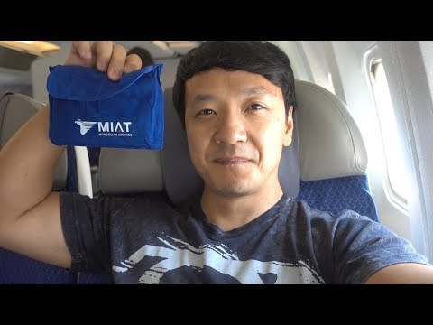 Flying Mongolian Airlines BUSINESS Class Seoul to Ulaanbaata