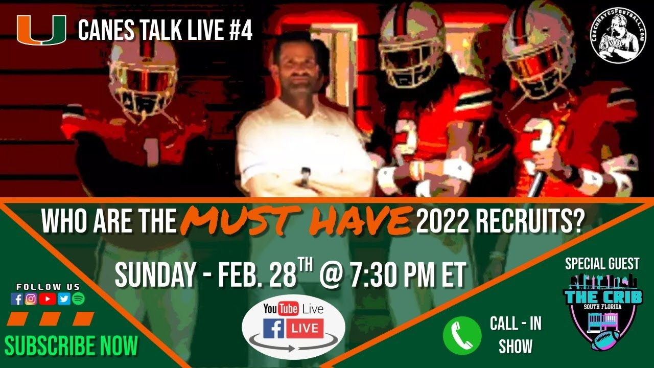 Who are the MUST HAVE 2022 recruits? (Canes Talk Live 4)