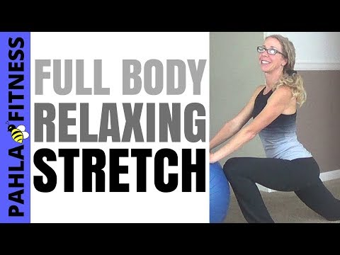 * STABILITY BALL STRETCHING | Perfect Stretches for SORE MUSCLES at the End of a Long Day