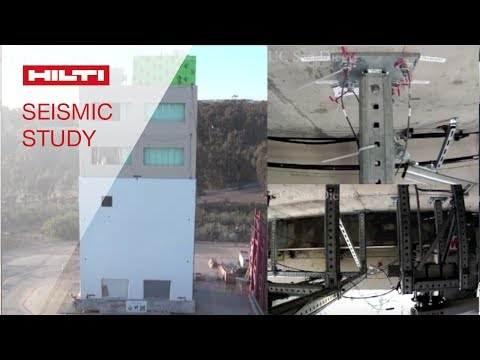 REVIEW of a building nonstructural component systems earthquake test using Hilti products & systems