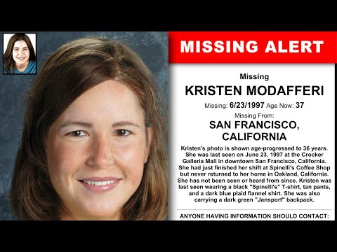Oakland Police Report Kristen Modafferi Missing Since June 23 1997, Last Seen At Crocker Galleria SF