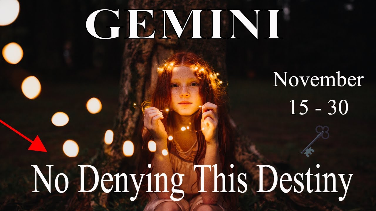Gemini ~ If This Ain't Destiny I Don't Know What Is, Wow ~ Psychic Tarot Reading November