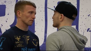 TOM FARRELL v KOFI YATES - HEAD TO HEAD @ FINAL PRESS CONFERENCE / REAL LIFE ROCKY STORY