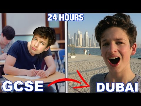 FROM MY LAST GSCE EXAM TO DUBAI IN 24 HOURS ⏰