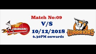 GSCPL- 4 2018 | Match 09 | Chargers Vs Warriors | #T20 | 10th Dec 2018