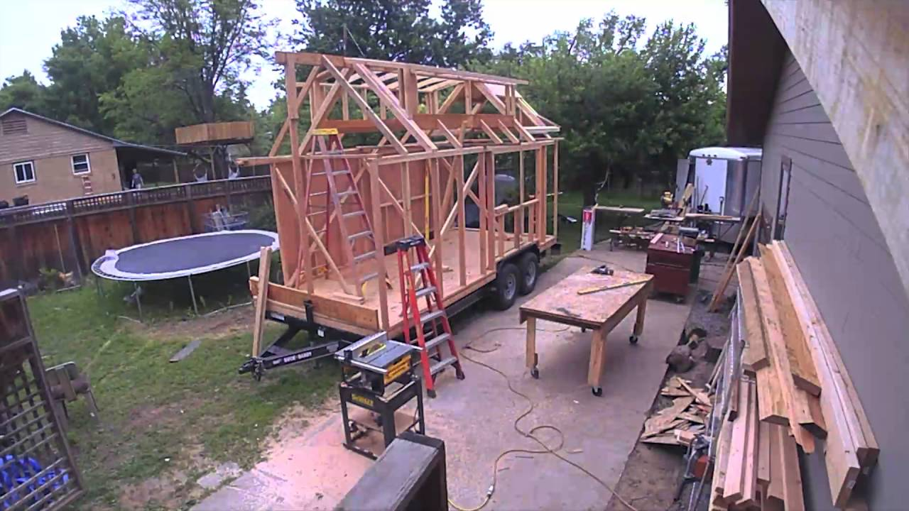 Time Lapse Construction Zack Giffin S Tiny House Youtube