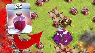 THE NEW SANTA SPELL!! | Clash Of Clans | HOG RIDER SANTA