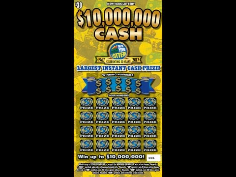 $30 - $10,000,000  CASH - BIG WIN! Lottery Scratch Off instant win tickets - Scratcher NYS BIG WIN!