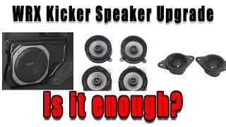 WRX Kicker Speaker Upgrade Review: Is it worth it?