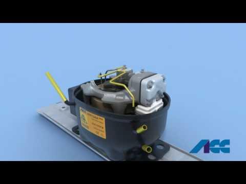 Kühlschrank Mit Aufbau : Teile eines kältemittelkompressors und kühlkreislauf eines