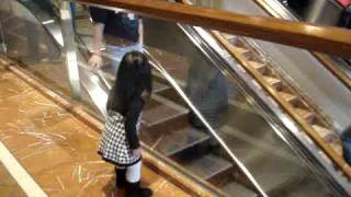 "Chloe saying ""bye"" at the Copley Place Mall"