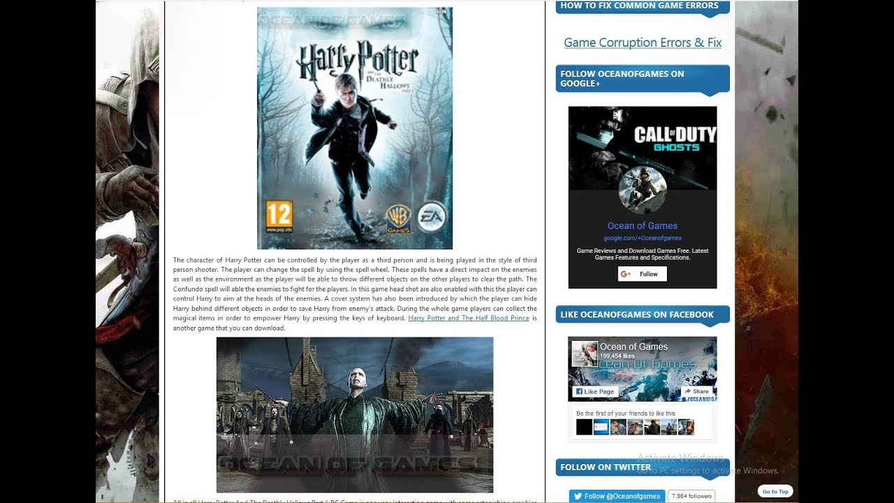 harry potter and the deathly hallows part 1 game download ocean of games