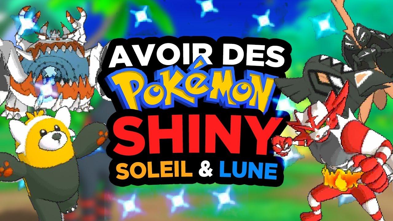 Avoir Facilement Des Pokémon Shiny Dans Soleil Lune