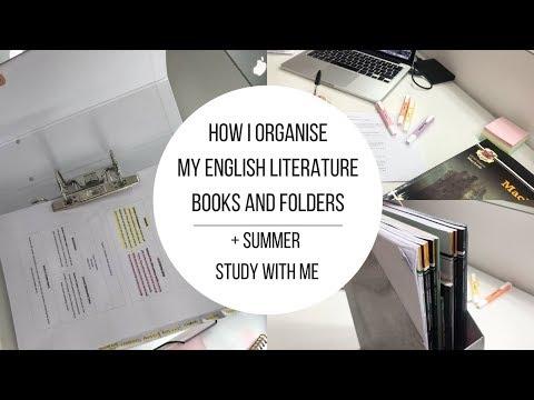 GCSE English Literature | How I Organise My Folders & Books!