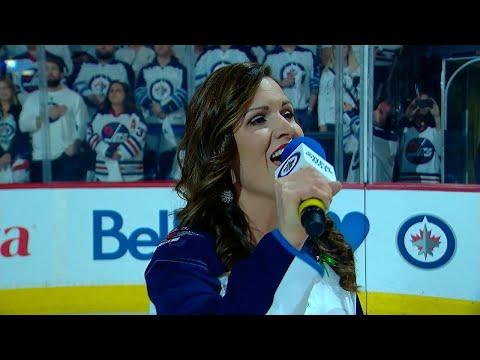 NSH@WPG, Gm3: Stacey Nattrass performs anthem