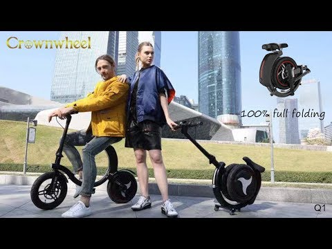 2019 NEW!! Most Powerful 100% Full Folding Crownwheel Q1 Electric Scooter Bike