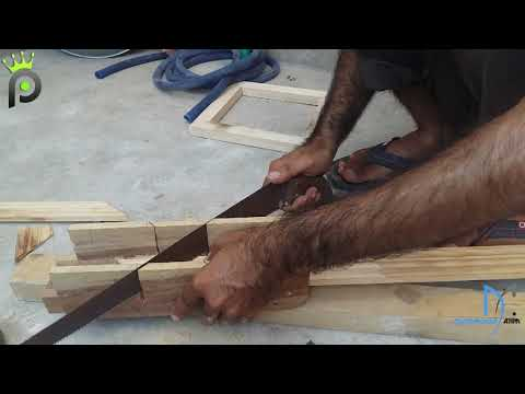 Diy How to make a simple wooden ventilation frame