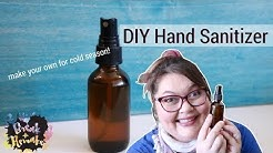 DIY Hand Sanitizer - use essential oils and vanilla extract
