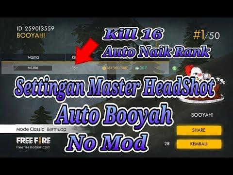 TUTORIAL FreeFire🔥Settingan Master Headshot -One Shot One Kill @ download game online terbaru