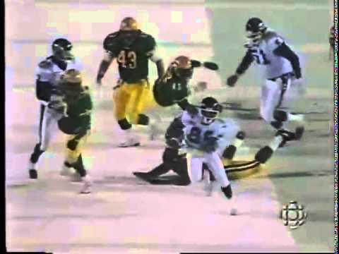 Jimmy Cunningham 80-Yard Punt Return TD - 1996 Grey Cup