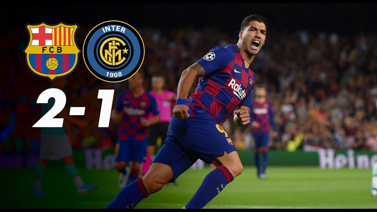 BARCELLONA INTER 2-1 Inter sconfitta a testa alta - YouTube