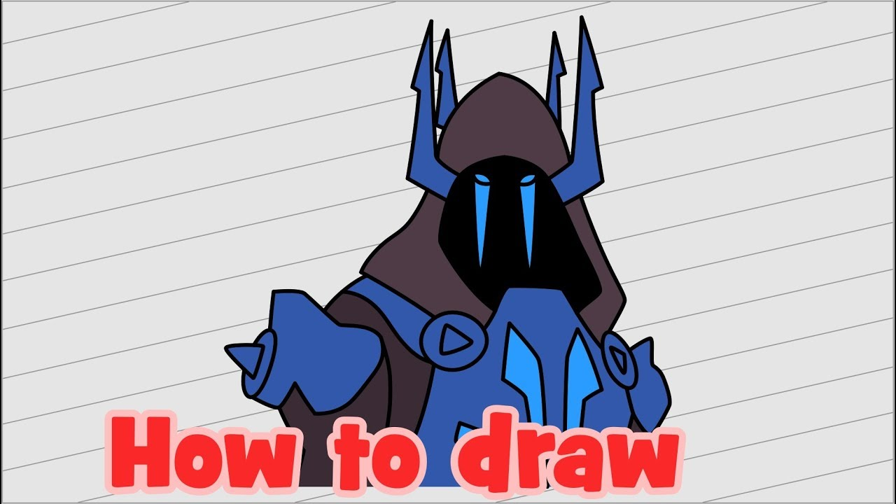 How To Draw Ice King Fortnite Characters Youtube