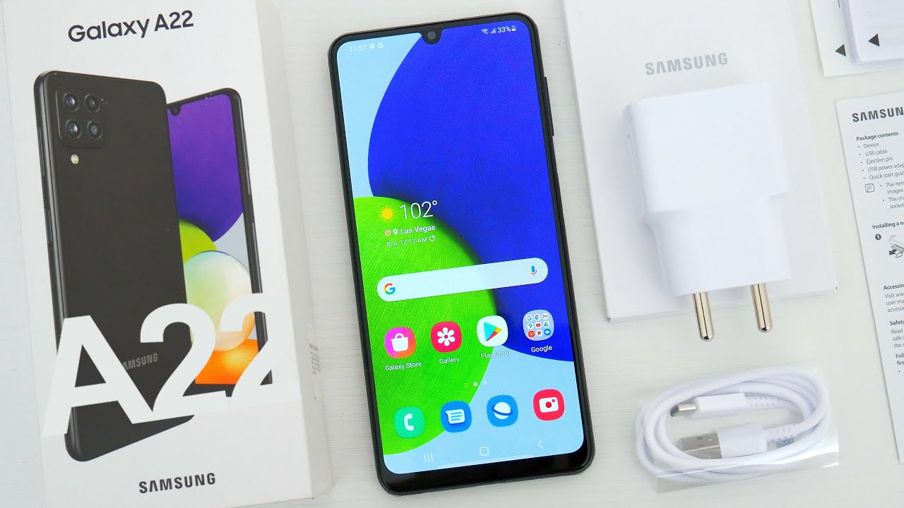 Download Samsung Galaxy A22 4G/LTE Unboxing, Hands On & First Impressions!
