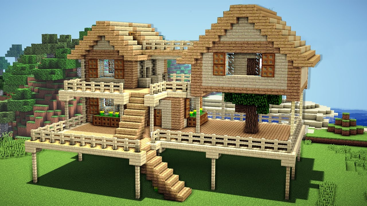 Minecraft Survival House Tutorial How To Build A In