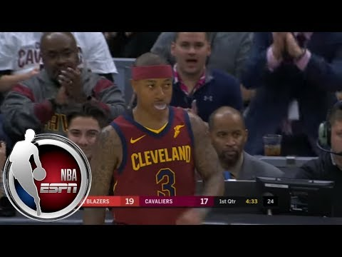 Isaiah Thomas gets standing ovation as he makes his Cleveland Cavaliers debut | ESPN