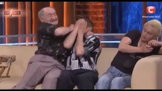 Grandfather beats up a pedophile on Ukrainian national TV (English Subtitles)