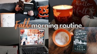 fall morning routine 2020   cozy and productive🍂