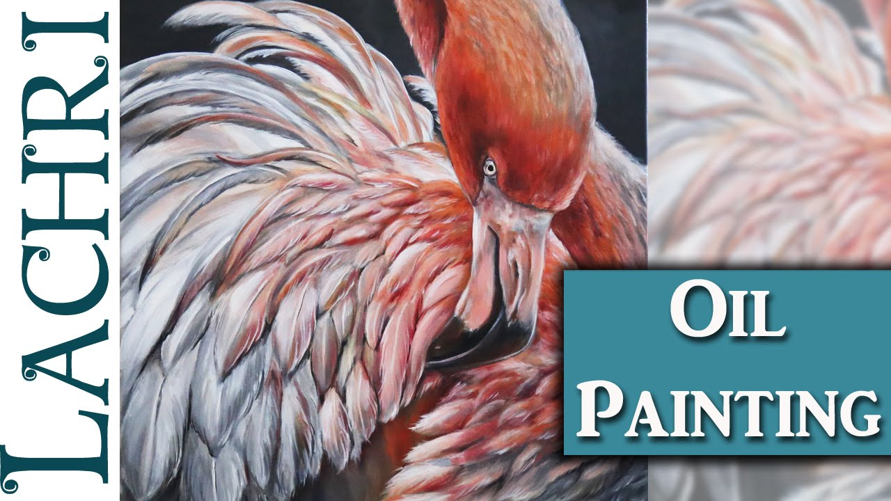 Flamingo oil painting demonstration art tips w lachri for Acrylic painting on paper tips