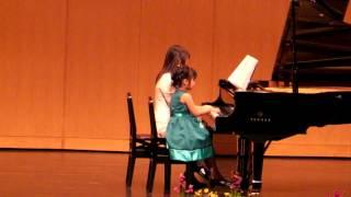 白鳥の湖 「ワルツ」 チャイコフスキー ピアノ教室の発表会 2009(5歳) ...