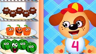 Baby Learn Fruits Shapes Colors - FUNNY FOOD Fun Puzzle Children Games