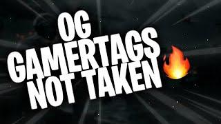 OG GAMERTAGS NOT TAKEN NOVEMBER 2020