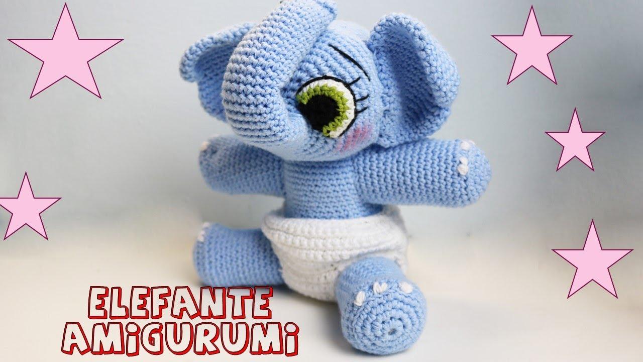 Elefante amigurumi parte1 Tutorial crochet - YouTube
