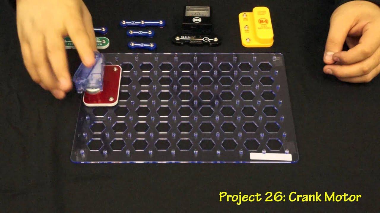 Snap Circuits Green Model Scg 125 Youtube Motion Scm165