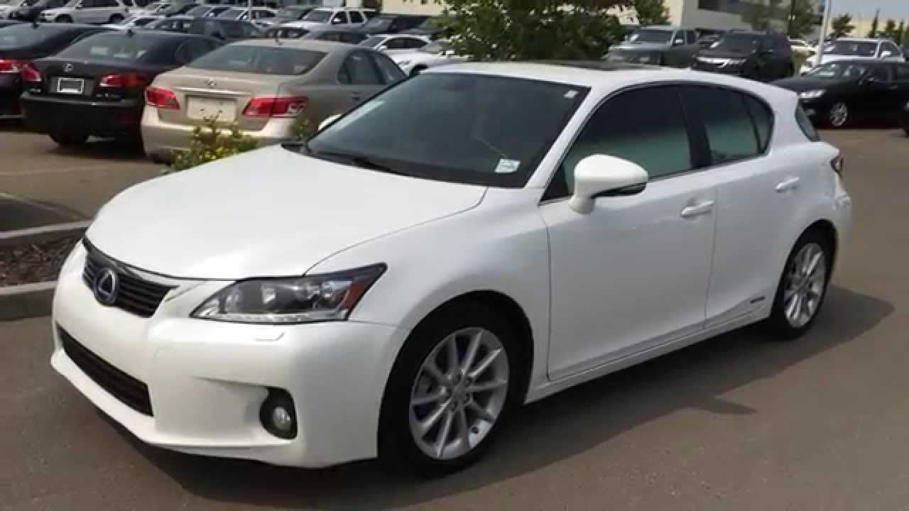 Pre Owned White On Black 2017 Lexus Ct 200h Fwd Technology Package Review Beaumont Alberta You