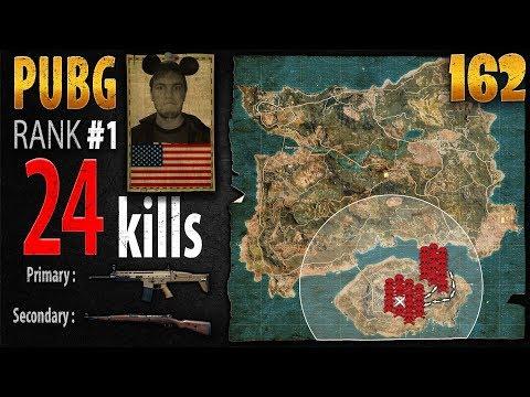 PUBG Rank 1 - jtik 24 kills [SA] SOLO TPP - PLAYERUNKNOWN'S BATTLEGROUNDS #162